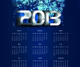 Elements of Calendar 2013 design vector art 04
