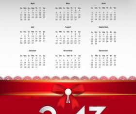 Elements of Calendar 2013 design vector art 05