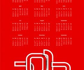 Elements of Calendar 2013 design vector art 06