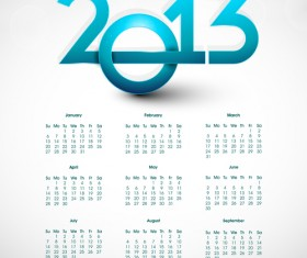 Elements of Calendar 2013 design vector art 07