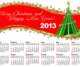 Elements of Calendar grid 2013 design vector set 10