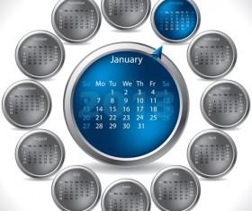 Elements of Calendar grid 2013 design vector set 12