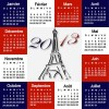 Elements of Calendar grid 2013 design vector set 15