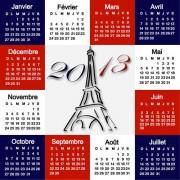 Link toElements of calendar grid 2013 design vector set 15