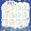 Elements of Calendar grid 2013 design vector set 02