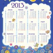 Link toElements of calendar grid 2013 design vector set 02