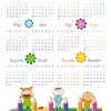 Elements of Calendar grid 2013 design vector set 05