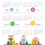 Link toElements of calendar grid 2013 design vector set 05