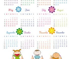 Elements of Calendar grid 2013 design vector set 05