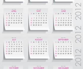 Elements of Calendar grid 2013 design vector set 06
