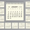 Elements of Calendar grid 2013 design vector set 07