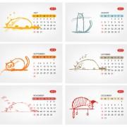 Link toElements of calendar grid 2013 design vector set 08