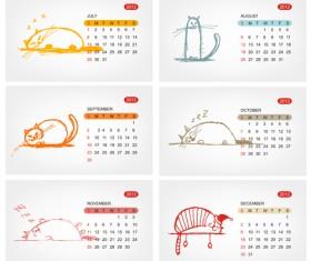Elements of Calendar grid 2013 design vector set 08