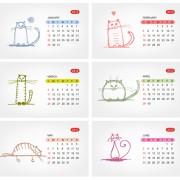 Link toElements of calendar grid 2013 design vector set 09