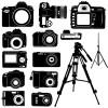 Vivid Camera and Camcorder elements vector material 01