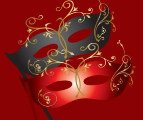 Various Carnival Mask elements vector set 03