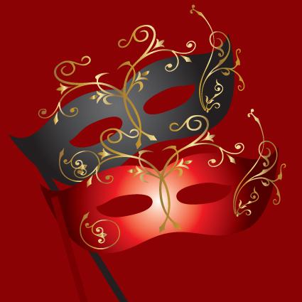 Various Carnival Mask elements vector set 03