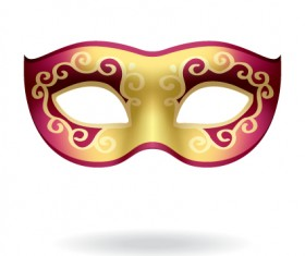 Various Carnival Mask elements vector set 04