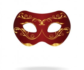 Various Carnival Mask elements vector set 05