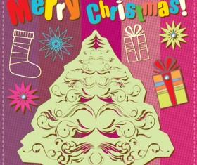 Cartoon Christmas and 2013 New Year Clipart vector 02