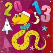 Link toCartoon christmas and 2013 new year clipart vector 04