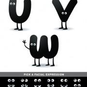 Link toFunny cartoon alphabet design vector material 01