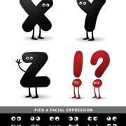 Link toFunny cartoon alphabet design vector material 07