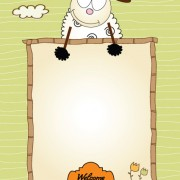 Link toSet of cute children frame vector graphic 03