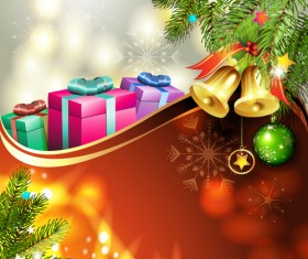 Different Christmas Accessories elements background vector 01