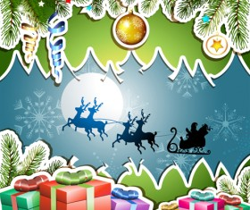 Different Christmas Accessories elements background vector 02