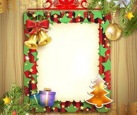 Different Christmas Accessories elements background vector 03