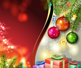 Different Christmas Accessories elements background vector 05