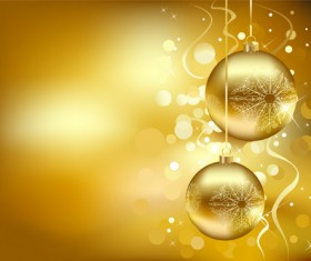 Set of Christmas balls decor Backgrounds vector 01