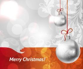 Set of Christmas balls decor Backgrounds vector 02