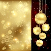 Link toSet of christmas balls decor backgrounds vector 03