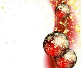 Set of Christmas balls decor Backgrounds vector 04