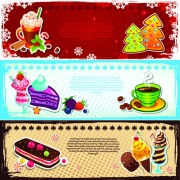 Link toElements of cute christmas banners design vector 01