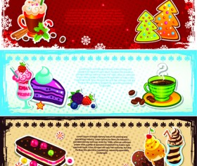 Elements of Cute Christmas Banners design vector 01