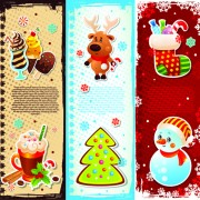 Link toElements of cute christmas banners design vector 02