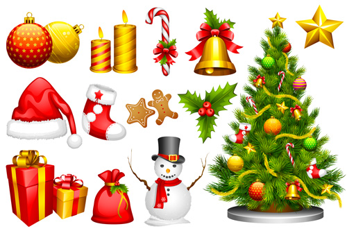 Elements of Christmas Illustration collection vector 03