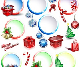 Elements of Christmas Illustration collection vector 05