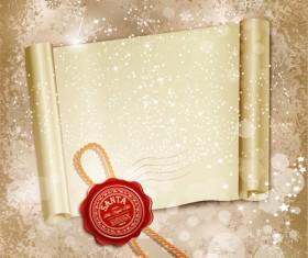 Set of Christmas Wax Seal elements vector graphics 03