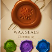 Link toSet of christmas wax seal elements vector graphics 04