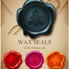 Set of Christmas Wax Seal elements vector graphics 05