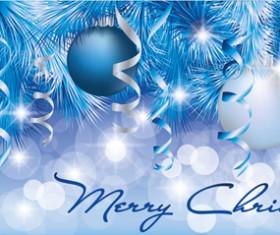 Shiny Christmas style banner design vector 01