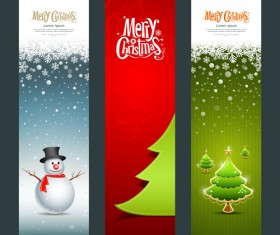 Shiny Christmas style banner design vector 02
