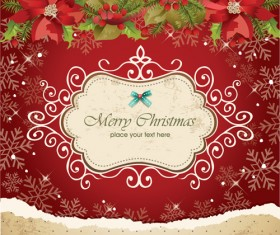 Vector set of Christmas cards backgrounds art 02
