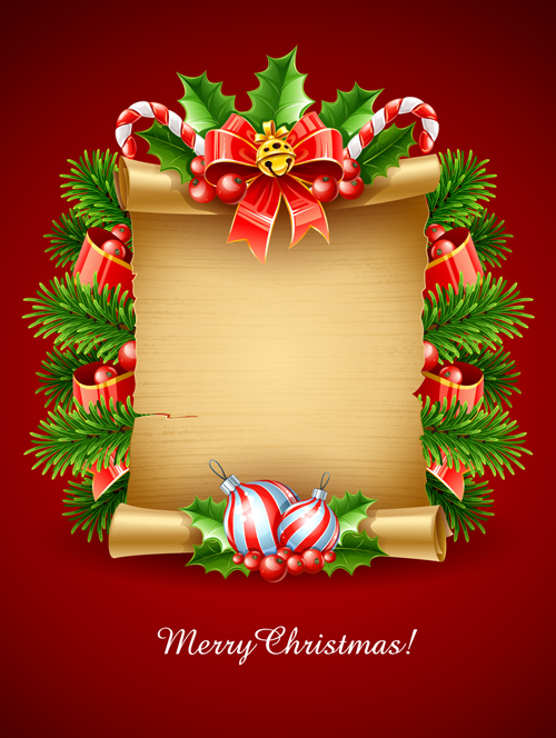Christmas Card Background.Vector Set Of Christmas Cards Backgrounds Art 04 Free Download