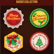 Link toChristmas discount badges with labels vector 02