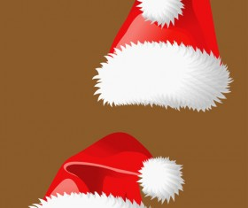 Different Christmas hat design elements vector set 02